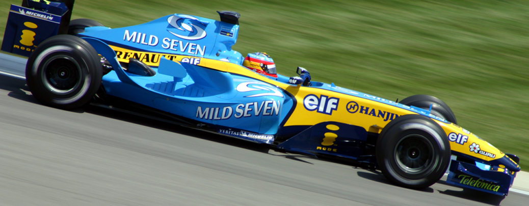 Renault R24, Alonso, GP USa, 2004, Foto: Rick Dikeman Licencia Creative Commons