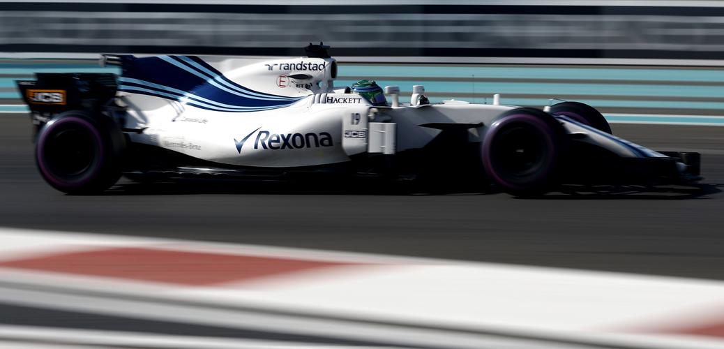Williams-Mercedes FW40, Felipe Massa, Abu Dhabi 2017 Foto: Glenn Dunbar/Williams