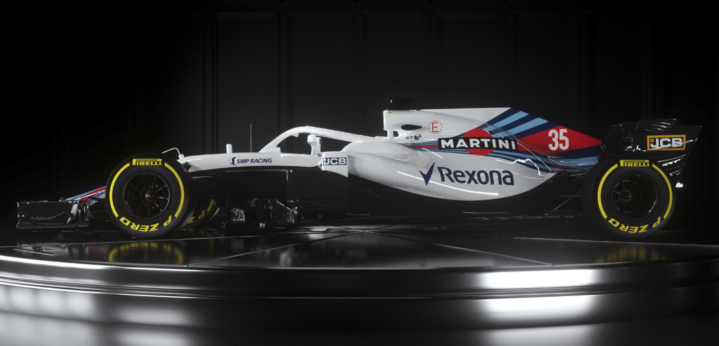 Williams FW41, foto de estudio. Foto: William