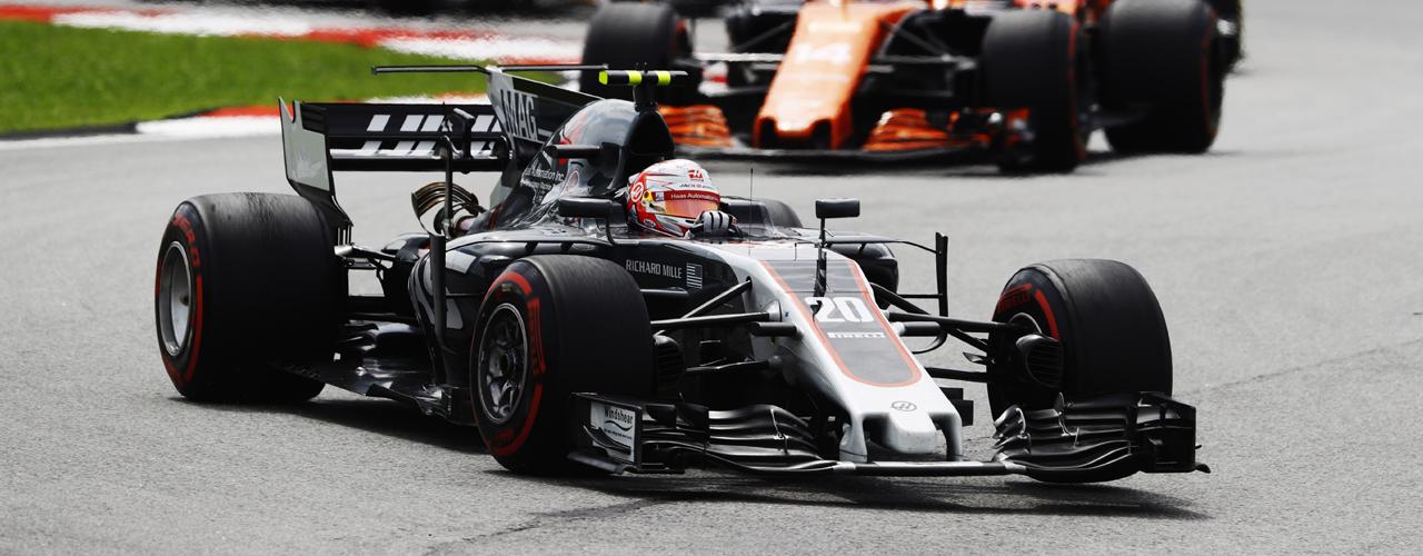 Gran Premio de Malasia, Kevin Magnussen, Haas VF-17 Foto: Haas