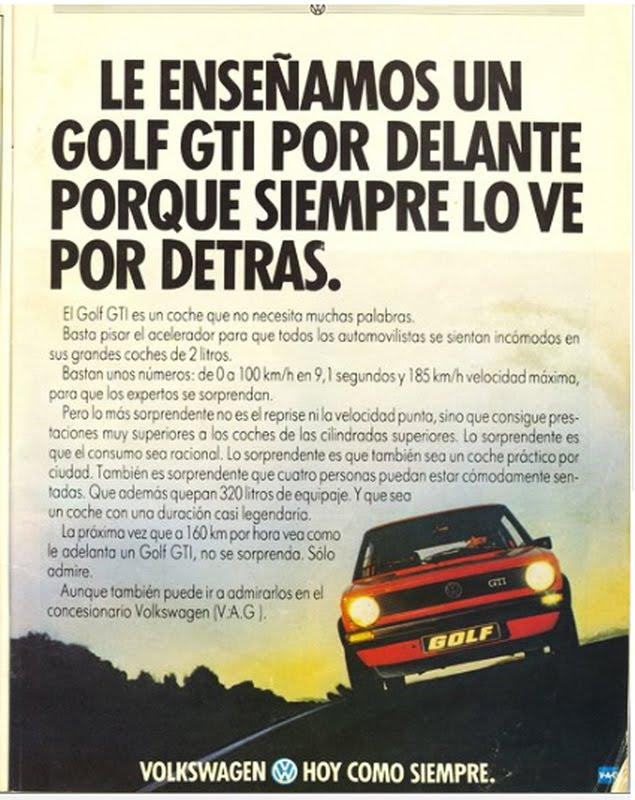 Publicidad Volkswagen: Golf GTi