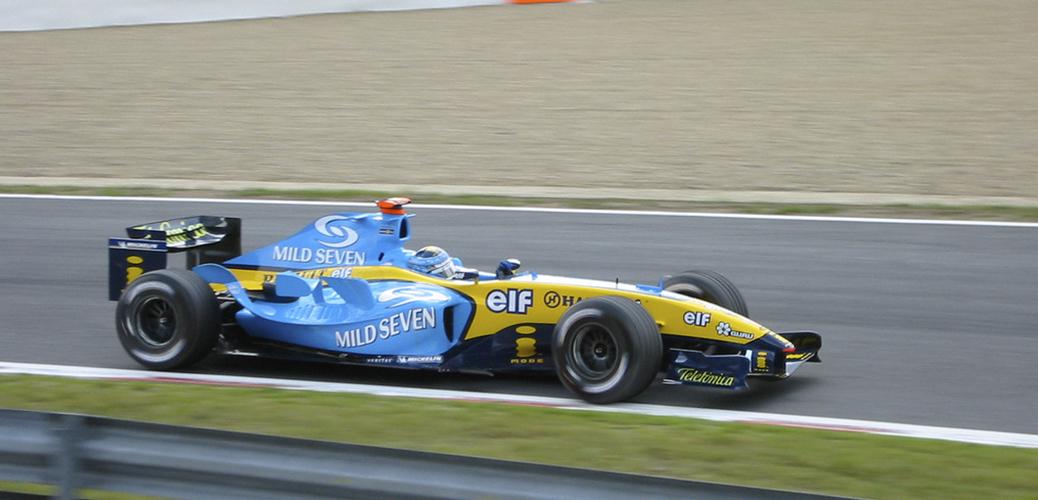 Renault R24, Trulli en el Gran Premio de Bélgica. Foto: FDITG. Creative Commons 2.0
