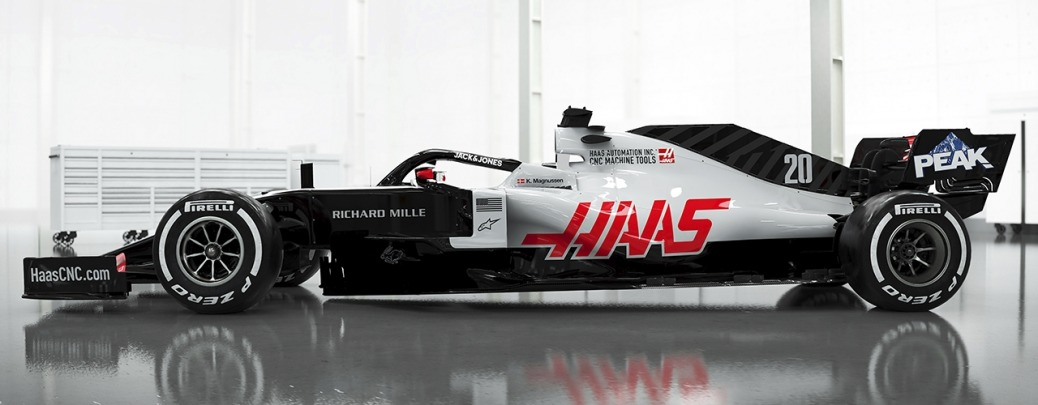 Haas-Ferrari VF-20 Foto de estudio. Haas F1 Team