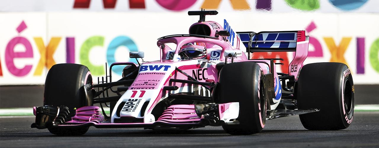 Nueva decoración desde Bélgica, Force India-Mercedes VJM11 - Foto: Racing Point