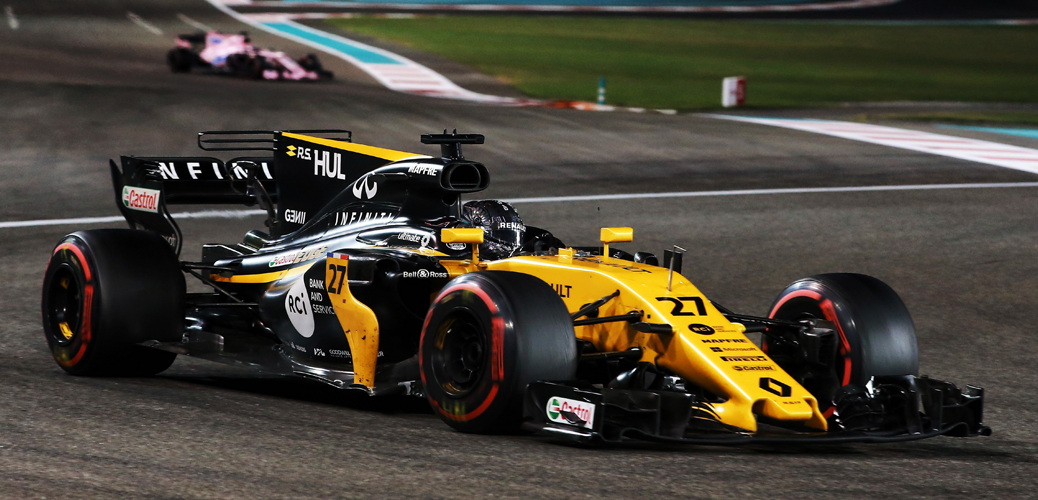 Hulkenberg, Abu Dhabi 2017, Foto: Renault Media, XPB / James Moy Agency