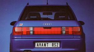 Trasera Audi RS2, Foto de Catalogo