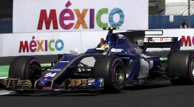 Sauber-Ferrari C36, Wehrlein en el Gran Premio de México, Foto: Sauber