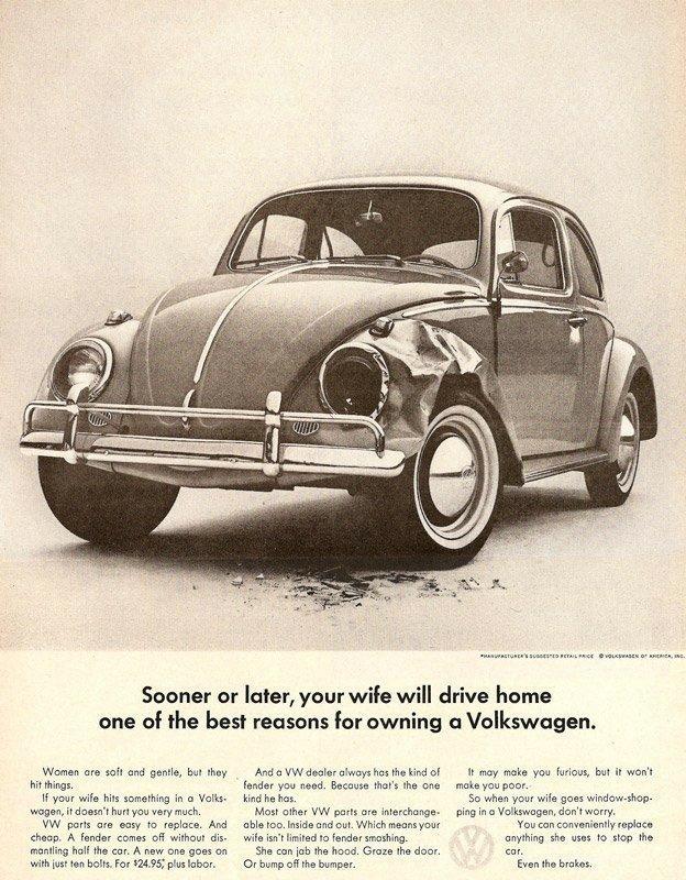 Antes o después tu mujer querrá conducir a casa, una de las mejores razones para tener un Volkswagen.