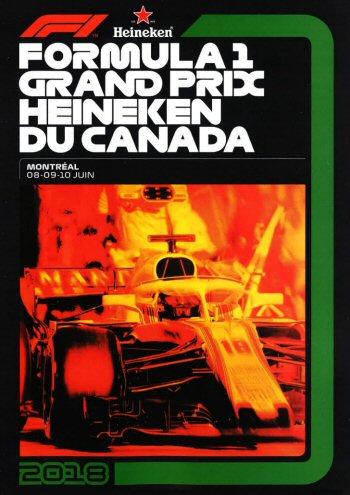 Póster Gran Premio de Canadá 2018