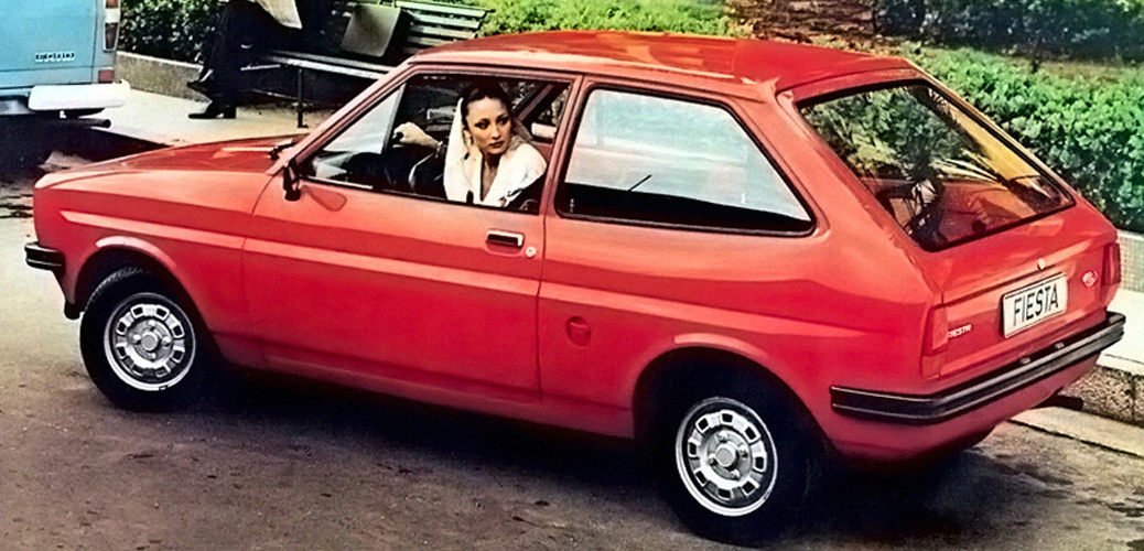 Vista trasera, Ford Fiesta Mk1, Foto: Ford