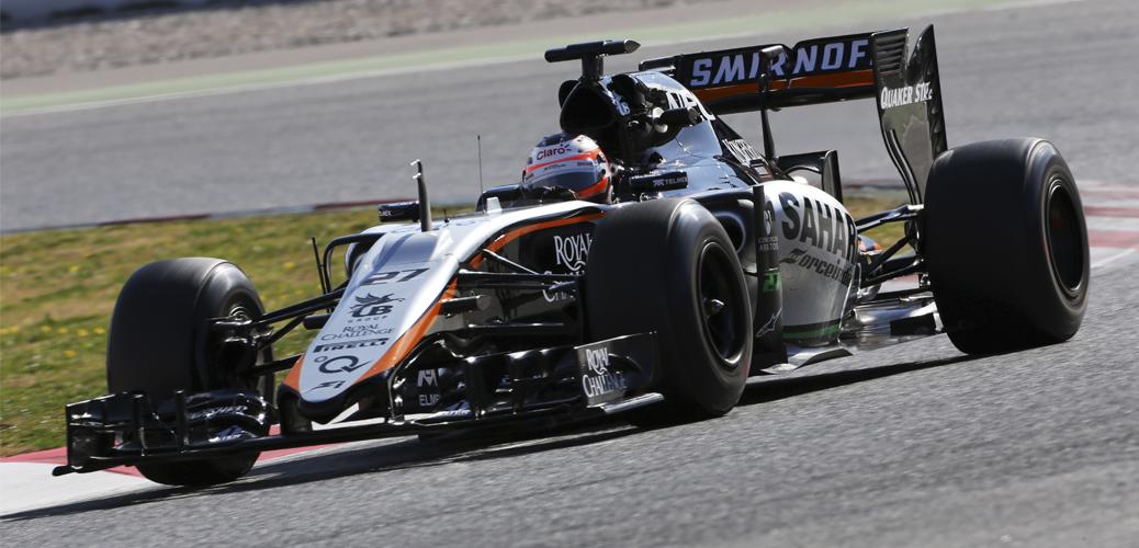 Nico Hulkenberg durante los Test de pretemporada en Barcelona, Foto: Force India