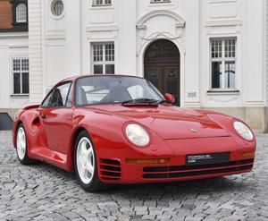 Frontal Porsche 959, 2018. Porsche AG