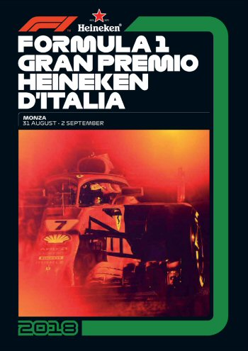 Póster Gran Premio de Italia 2018