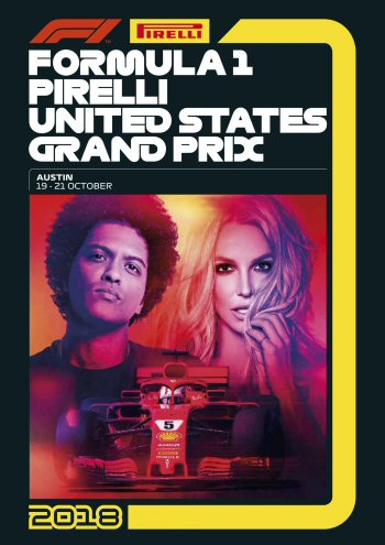 Póster Gran Premio de Estados Unidos 2018