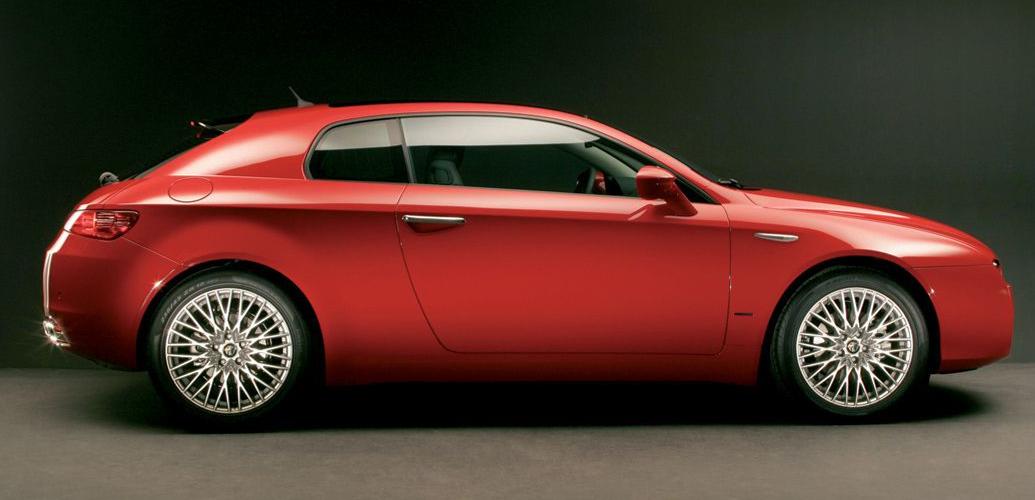 Vista lateral, del Alfa Romeo Brera, Foto: Alfa Romeo