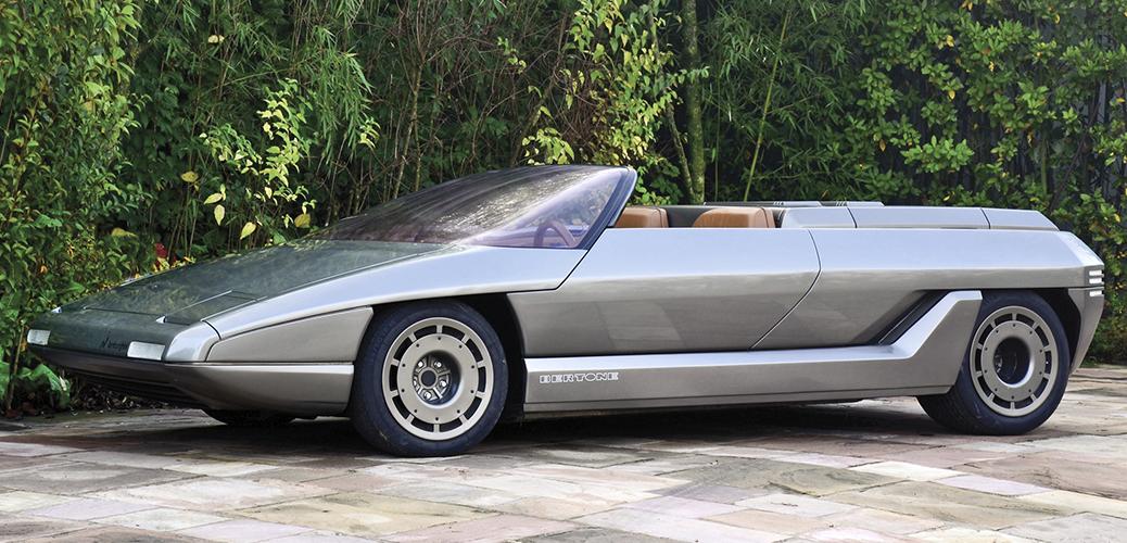 Tres cuartos frontal del Lamborghini Athon, Foto: Tom Wood / Courtesy of RM Auctions