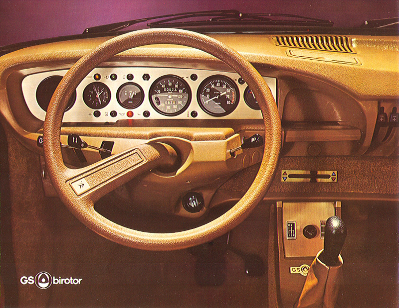 GS Bi-Rotor, Cuadro de Mandos: Foto de catálogo