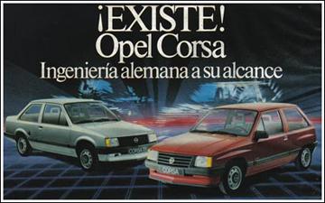 """Anuncio Opel Corsa. """"Ingeniería alemana a su alcance"""""""
