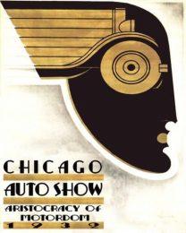 Póster Salón del Automóvil de Chicago de 1932