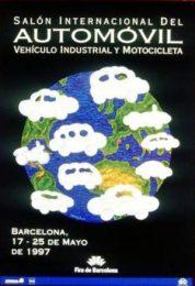 Póster del Salón Internacional del Automóvil de Barcelona de 1997