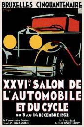 Póster Salón del Automóvil de Bruselas de 1932