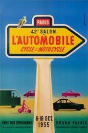 Póster Salón del Automóvil de París