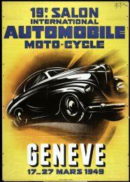 Póster 19º Salón del Automóvil de Ginebra