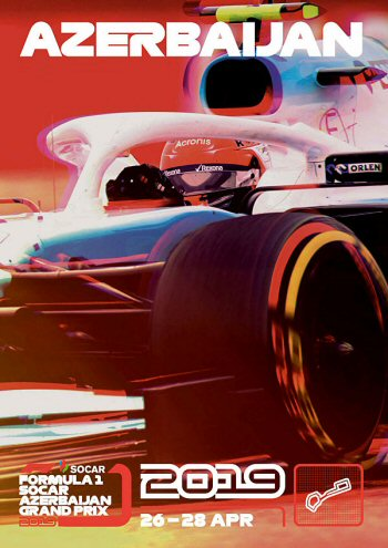 Póster Gran Premio de Azerbaijan 2019