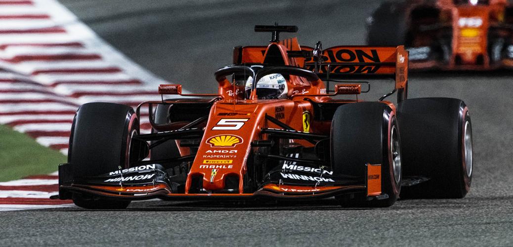 Ferrari SF90 pilotado por Sebastian Vettel durante el Gran Premio de Baráin de 2019, Foto: Ferrari