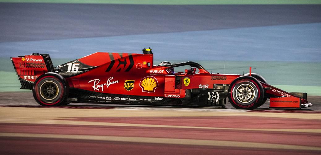 Ferrari SF90 pilotado por Charles Leclerc durante el Gran Premio de Baráin de 2019, Foto: Ferrari