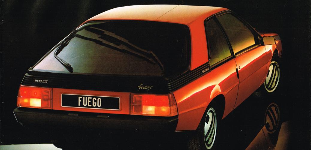 Renault Fuego; Imagen de Catálogo Renault