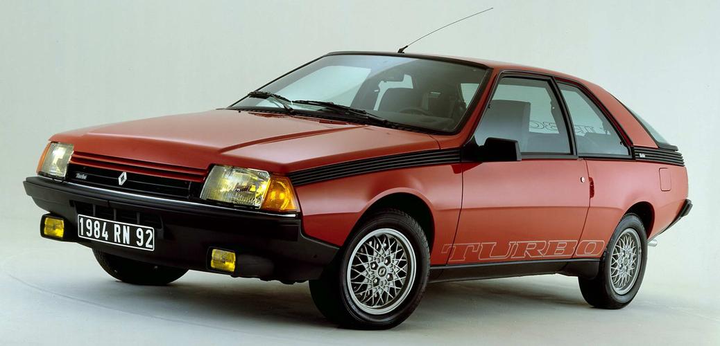 Nuevo frontal reestilizado para el Renault Fuego Turbo, 1984, Foto: Renault