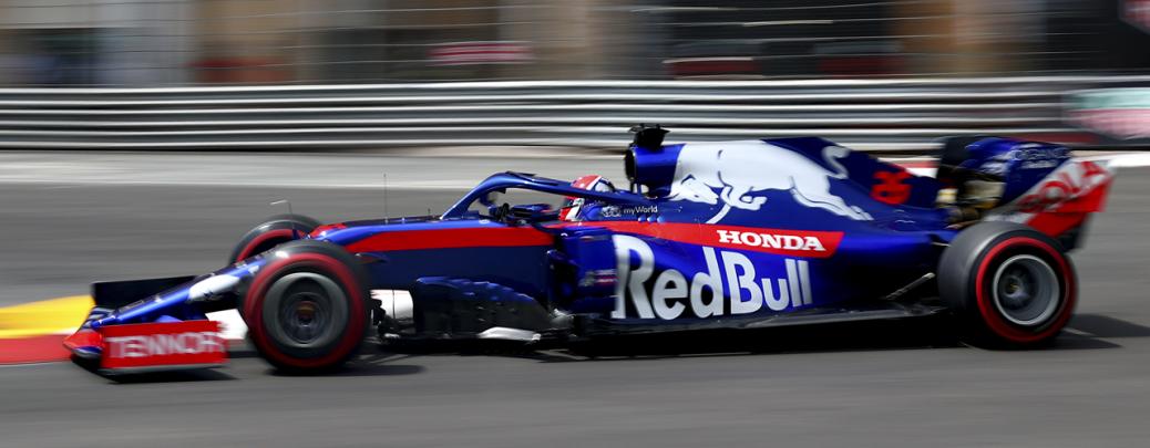 Daniil Kvyat con el Toro Rosso STR14 en la calificación del Gran Premio de Mónaco 2019, Foto: Red Bull