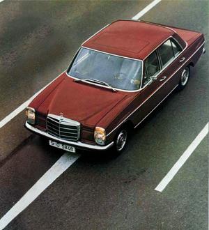Mercedes W115, Foto: Catálogo Mercedes de la época