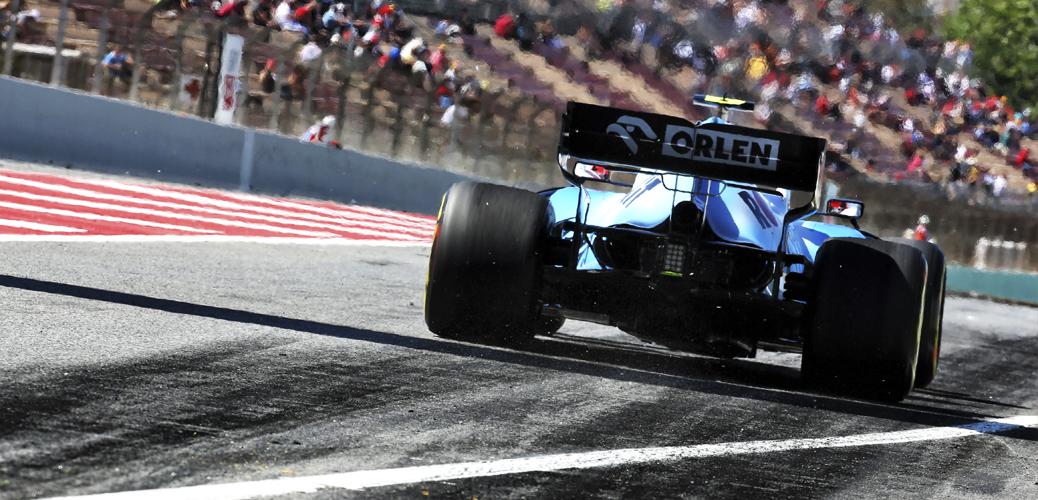 Robert Kubica con el Williams-Mercedes FW42 en los entrenamientos del viernes para el Gran Premio de España de 2019