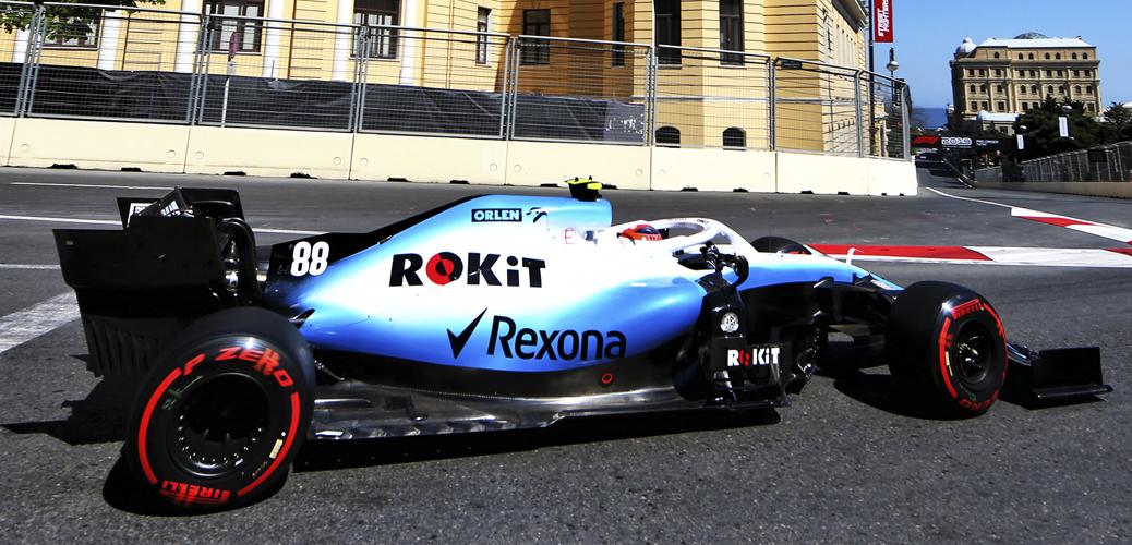 Robert Kubica con el Williams Racing FW42 en la Calificación del Gran Premio de Azerbaijan 2019, Foto: Williams