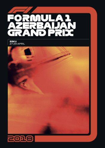 Póster Gran Premio de Azerbaijan 2018