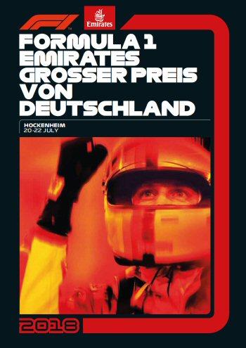 Póster Gran Premio de Alemania 2018