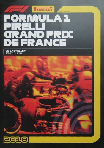 Póster Gran Premio de Francia 2018
