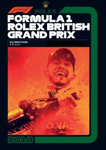 Póster Gran Premio de Gran Bretaña 2018