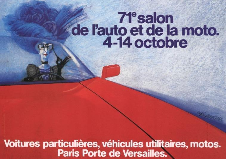 Póster Salón del Automóvil de París 1984