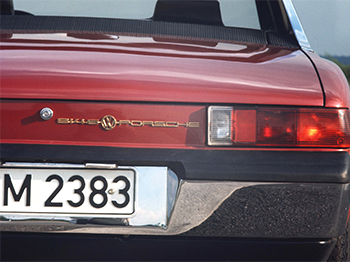 Trasera y emblema del VW-Porsche 914/6, Foto: Porsche AG