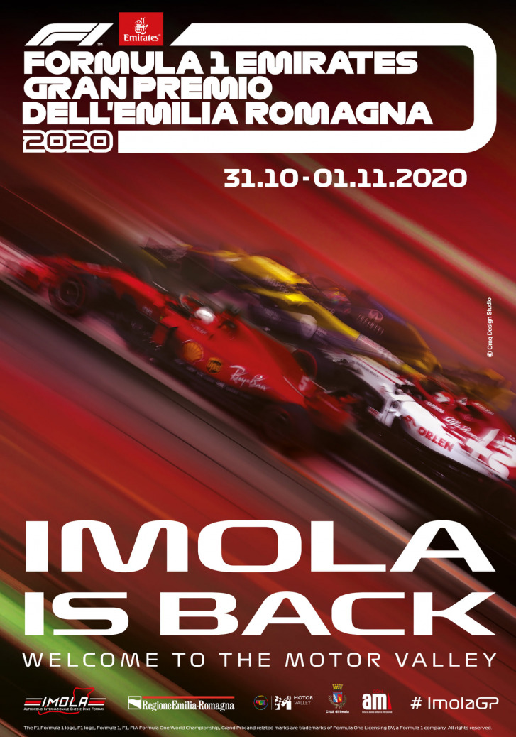 Póster Gran Premio de Emilia Romagna 2020