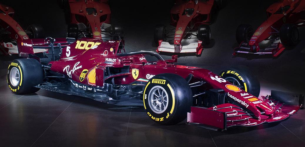 Presentación de la decoración para el Gran Premio de la Toscana, 1000º Gran Premio de la Scuderia Ferrari en Fórmula 1. Foto: Ferrari