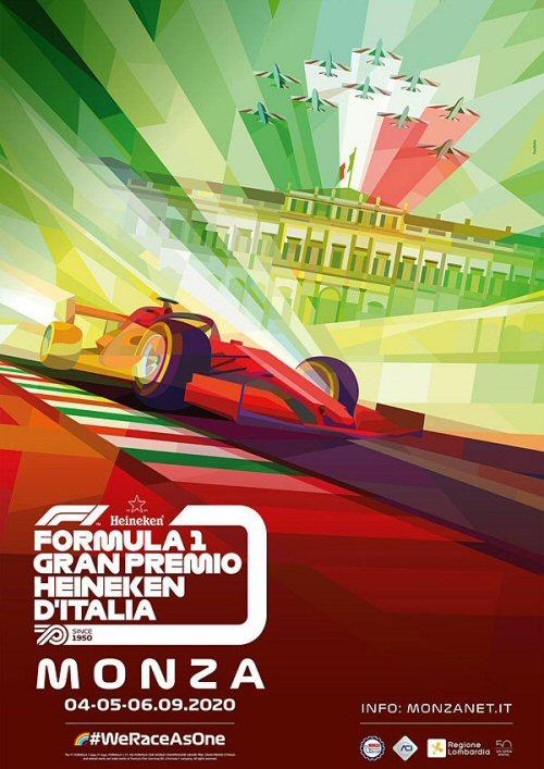 Portada del programa oficial del Gran Premio de Italia 2020