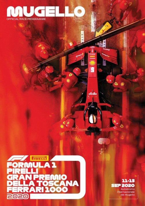 Portada del programa oficial del  Gran Premio de la Toscana 2020