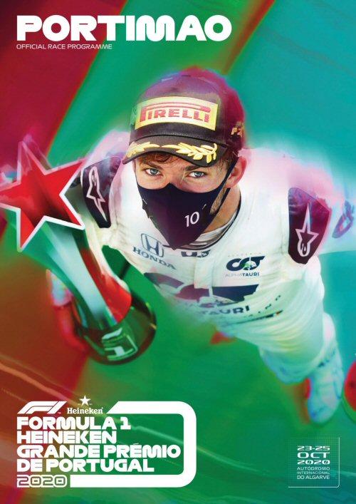 Portada del programa oficial del Gran Premio de Portugal 2020