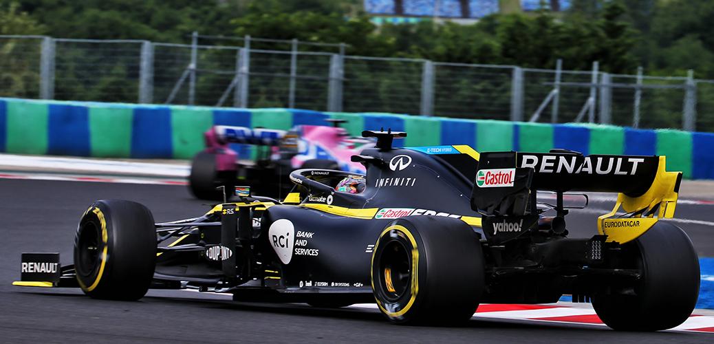 Daniel Ricciardo con el Renault RS20 durante el Gran Premio de Hungría de 2020, Foto: Renault Sport