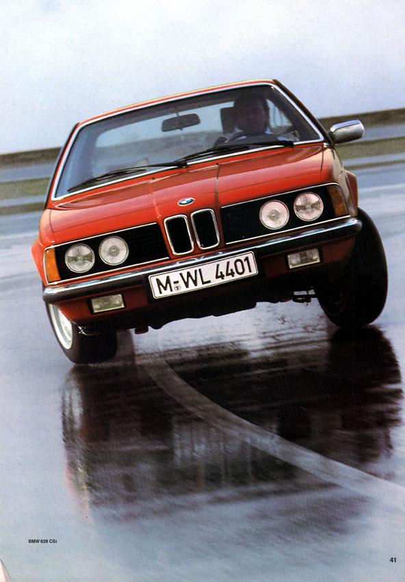 BMW 635 CSi, Foto de Catálogo de 1982