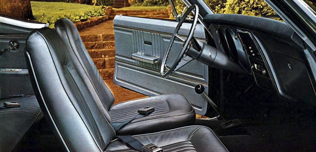 Interior Camaro 1967, Foto: Catálogo Chevrolet Camaro